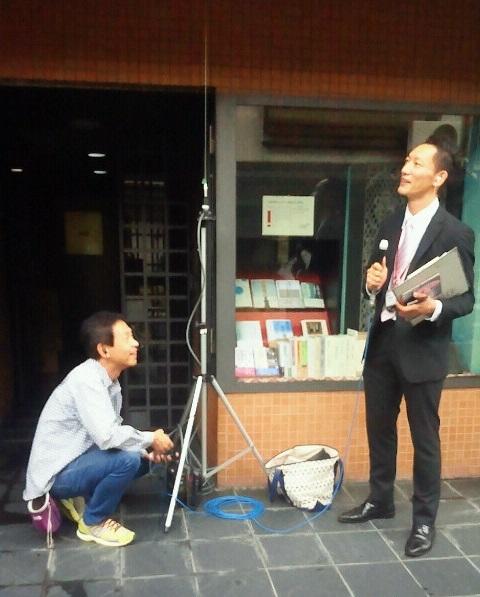 KBS京都ラジオ放送生放送風景