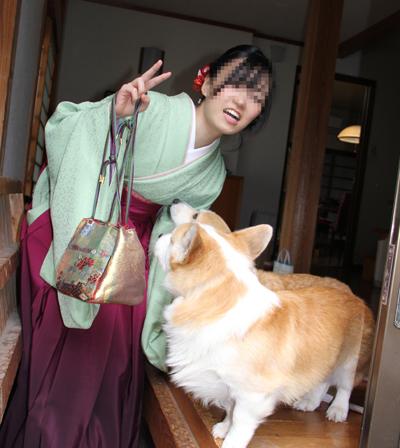 袴姿とハニッチ
