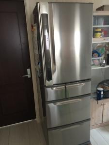 引っ越し前の冷蔵庫