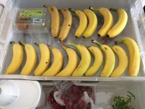 野菜室上段のバナナ
