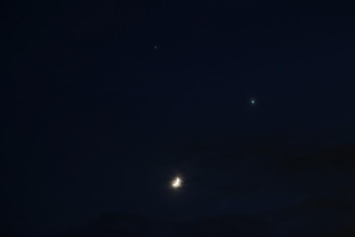 2015年6月20日 西の空の3天体