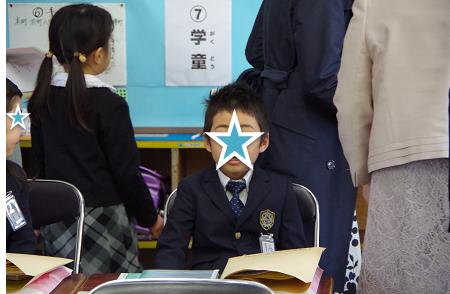 長男入学式2