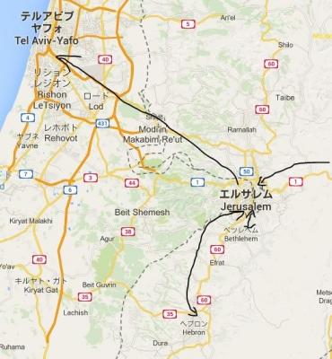 イスラエルmap2