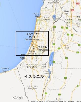イスラエルmap