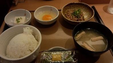 納豆朝食370円やよい軒