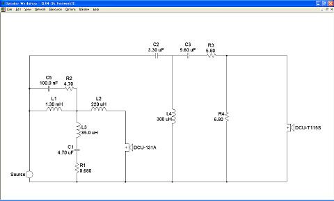 インピーダンス補正なしのHPF回路