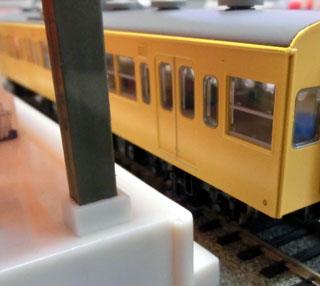 100均の鉄道おもちゃの駅をHOゲージに使用した場合