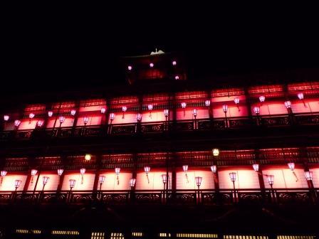 道後温泉本館 ライトアップ 3