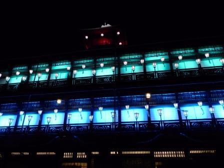 道後温泉本館 ライトアップ 4