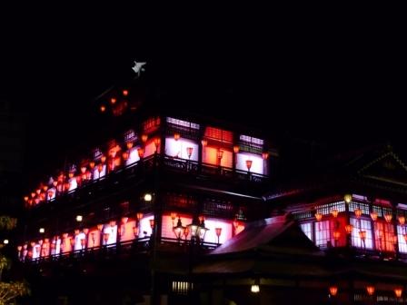 道後温泉本館 ライトアップ 6
