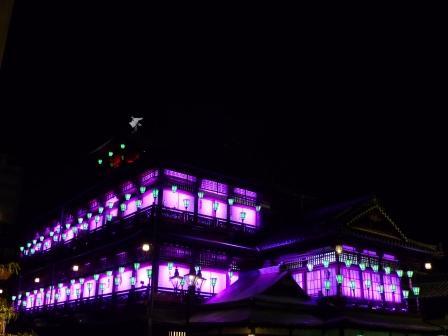 道後温泉本館 ライトアップ 10