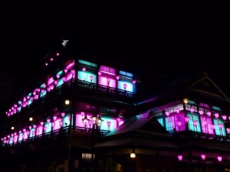 道後温泉本館 ライトアップ 12