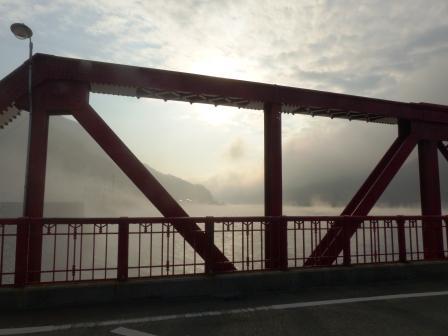 長浜大橋から 肱川あらし 2