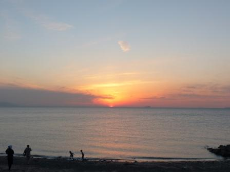 塩屋海岸 夕景 12