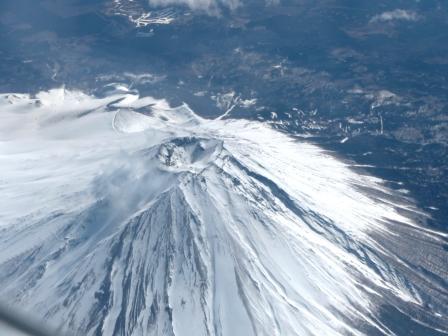 飛行機からの眺め 富士山 2