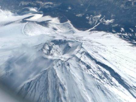 飛行機からの眺め 富士山 3