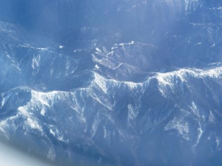 飛行機からの眺め 山並み
