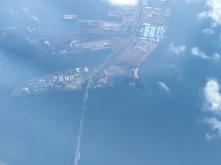 飛行機からの眺め 瀬戸大橋
