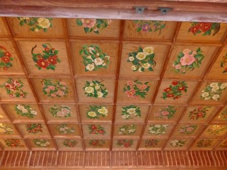 椿神社 拝殿・天井