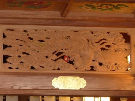 椿神社 拝殿・欄間 1