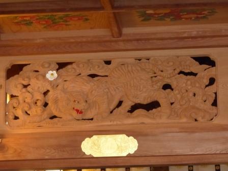 椿神社 拝殿・欄間 2