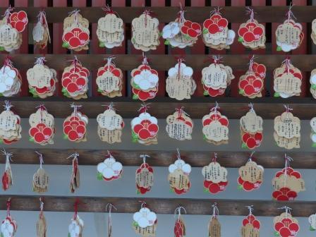 椿神社 椿の絵馬