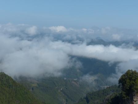 消えかけの雲海