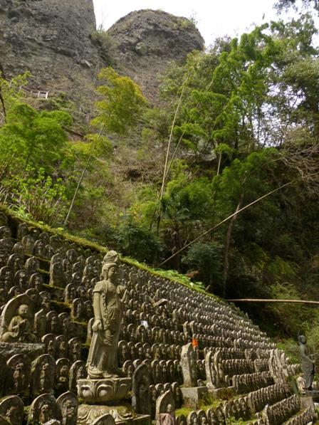 岩屋寺 石仏たちと礫岩峰