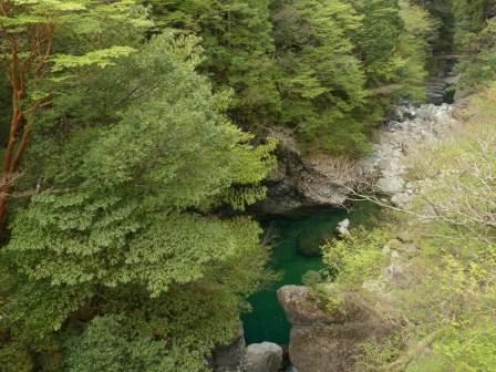 面河渓 関門遊歩道からの景色 1
