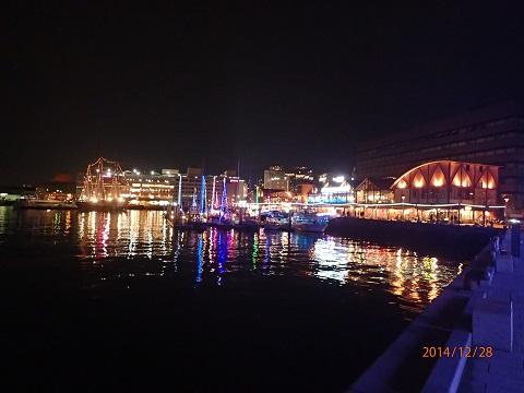 ヨット夜景