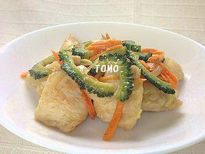 ゴーヤと鶏肉の味噌生姜炒め