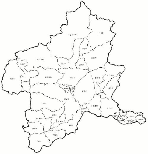 群馬県市町村図pngファイル