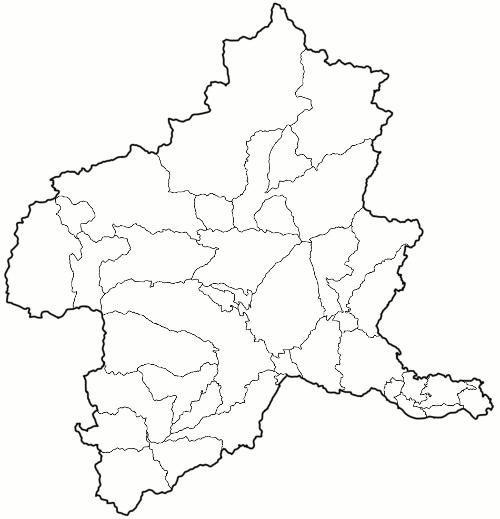 群馬県市町村地図・地名なしpngファイル