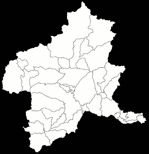 群馬県市町村地図・地名なし(県外のみ透明)pngファイル