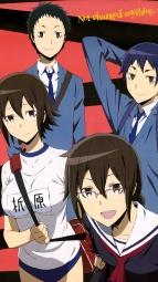 305620 buruma durarara!! gym_uniform kuronuma_aoba megane orihara_kururi orihara_mairu ryuugamine_mikado seifuku takata_akira