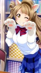 i_299566 animal_ears love_live! minami_kotori murota_yuuhei nekomimi seifuku tail