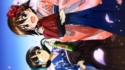 313719 eyepatch kimono kurashima_tomoyasu miyafuji_yoshika sakamoto_mio strike_witches