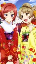 i277171 kimono love_live! minami_kotori murota_yuuhei nishikino_maki