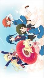 i_312917 alice_cartelet inokuma_youko kiniro_mosaic komichi_aya kujou_karen oomiya_shinobu pantyhose seifuku thighhighs umbrella wallpaper