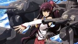 169_314779 gun kantai_collection mecha_musume umbrella weapon yamato_(kancolle)