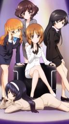 i_315968 akiyama_yukari business_suit girls_und_panzer isuzu_hana itou_takeshi megane nishizumi_miho reizei_mako takebe_saori
