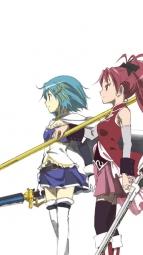ia271215 akemi_homura kaname_madoka miki_sayaka puella_magi_madoka_magica sakura_kyouko sword tagme tomoe_mami weapon