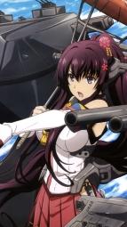 i_a314779 gun kantai_collection mecha_musume umbrella weapon yamato_(kancolle)