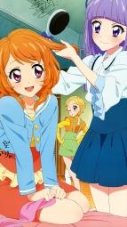 i_300219 aikatsu! autographed dress hikami_sumire oozora_akari shinjou_hinaki watanabe_satomi