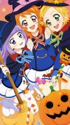 i_300220 aikatsu! halloween heels hikami_sumire oozora_akari sakai_kasumi seifuku shinjou_hinaki witch