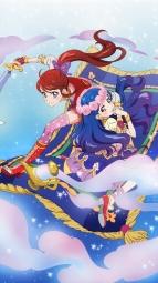 i_316926 aikatsu! dress heels ishikawa_kayoko kazesawa_sora shibuki_ran sword thighhighs