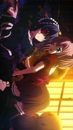 i279535 chuunibyou_demo_koi_ga_shitai! eyepatch fixme ikeda_kazumi shichimiya_satone takanashi_rikka thighhighs