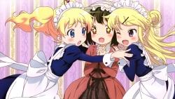 320857 alice_cartelet dress kiniro_mosaic kujou_karen maid oomiya_shinobu