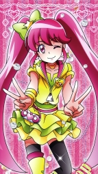 287687 aino_megumi happiness_charge_precure! pretty_cure satou_masayuki stick_poster thighhighsi_