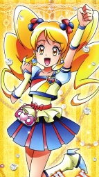287686 happiness_charge_precure! oomori_yuuko pretty_cure satou_masayuki stick_posteri_